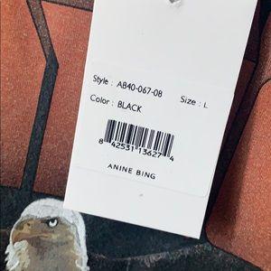 Anine Bing Tops - Anine Bing eagle tee in black